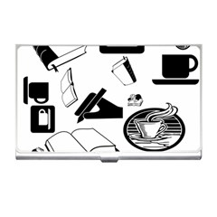 Books And Coffee Business Card Holder by StuffOrSomething