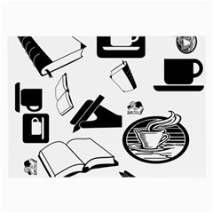 Books And Coffee Glasses Cloth (Large)