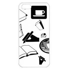 Books And Coffee Apple Iphone 5 Seamless Case (white) by StuffOrSomething