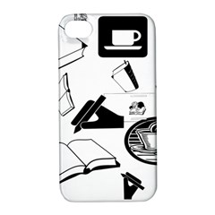 Books And Coffee Apple Iphone 4/4s Hardshell Case With Stand by StuffOrSomething