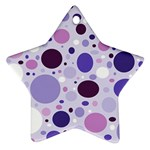 Passion For Purple Star Ornament Front