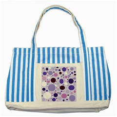 Passion For Purple Blue Striped Tote Bag by StuffOrSomething