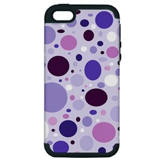 Passion For Purple Apple Iphone 5 Hardshell Case (pc+silicone) by StuffOrSomething