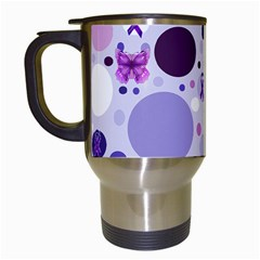 Purple Awareness Dots Travel Mug (white) by FunWithFibro