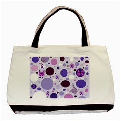 Purple Awareness Dots Classic Tote Bag by FunWithFibro