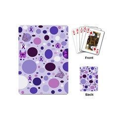 Purple Awareness Dots Playing Cards (Mini)