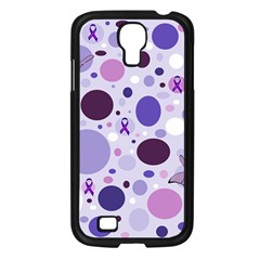 Purple Awareness Dots Samsung Galaxy S4 I9500/ I9505 Case (black) by FunWithFibro