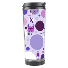 Purple Awareness Dots Travel Tumbler by FunWithFibro