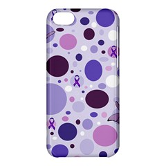 Purple Awareness Dots Apple Iphone 5c Hardshell Case by FunWithFibro