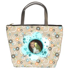 Flower Bucket Bag #2 By Joy Johns   Bucket Bag   Ddy1idmteldh   Www Artscow Com Front