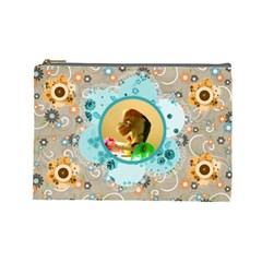 Flower Cosmetic Bag #2 By Joy Johns   Cosmetic Bag (large)   Ut8i72esk873   Www Artscow Com Front