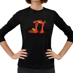 Bigfoot Walker Women s Long Sleeve T Shirt (dark Colored) by Contest1753604