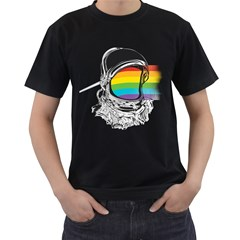 The Darkside Of The Astronaut Men s T Shirt (black)