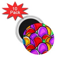 Colored Easter Eggs 1.75  Button Magnet (10 pack) by StuffOrSomething