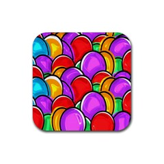 Colored Easter Eggs Drink Coaster (square) by StuffOrSomething