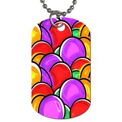 Colored Easter Eggs Dog Tag (two Sided)  by StuffOrSomething