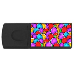 Colored Easter Eggs 4gb Usb Flash Drive (rectangle) by StuffOrSomething