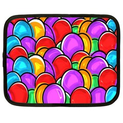 Colored Easter Eggs Netbook Sleeve (xxl) by StuffOrSomething