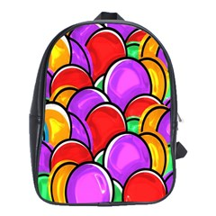 Colored Easter Eggs School Bag (large) by StuffOrSomething