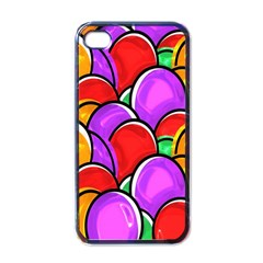 Colored Easter Eggs Apple Iphone 4 Case (black) by StuffOrSomething
