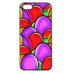 Colored Easter Eggs Apple Iphone 5 Seamless Case (black) by StuffOrSomething