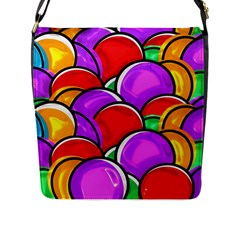 Colored Easter Eggs Flap Closure Messenger Bag (large) by StuffOrSomething
