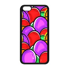 Colored Easter Eggs Apple Iphone 5c Seamless Case (black)