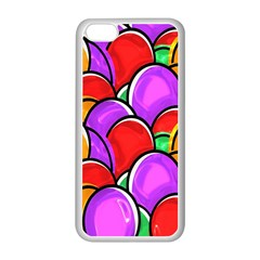 Colored Easter Eggs Apple Iphone 5c Seamless Case (white) by StuffOrSomething