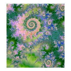 Rose Apple Green Dreams, Abstract Water Garden Shower Curtain 66  X 72  (large) by DianeClancy