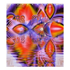 Crystal Star Dance, Abstract Purple Orange Shower Curtain 66  X 72  (large) by DianeClancy