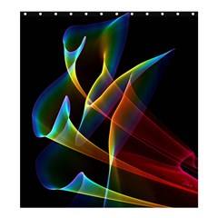 Peacock Symphony, Abstract Rainbow Music Shower Curtain 66  X 72  (large) by DianeClancy