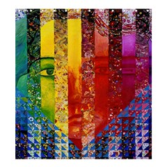 Conundrum I, Abstract Rainbow Woman Goddess  Shower Curtain 66  X 72  (large) by DianeClancy