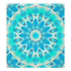 Blue Ice Goddess, Abstract Crystals Of Love Shower Curtain 66  X 72  (large) by DianeClancy
