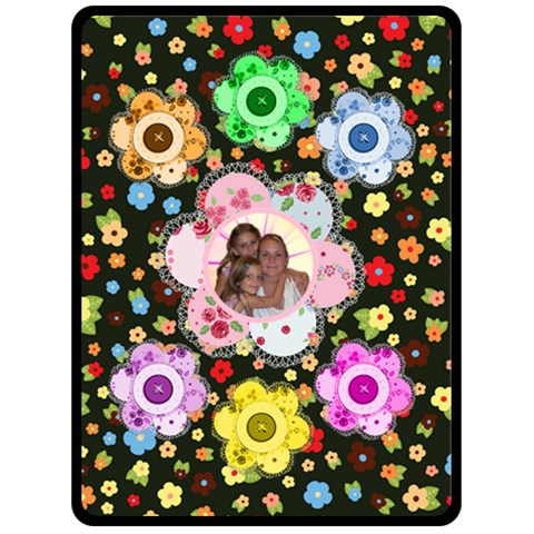 Button Flower Large Blanket By Joy Johns   Fleece Blanket (large)   U2h8apouc3fa   Www Artscow Com 80 x60 Blanket Front
