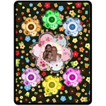 Button Flower large blanket - Fleece Blanket (Large)