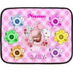 button flower mini blanket, 2 sides - Double Sided Fleece Blanket (Mini)