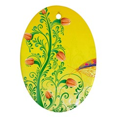 Whimsical Tulips Oval Ornament by StuffOrSomething