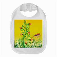 Whimsical Tulips Bib by StuffOrSomething