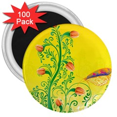Whimsical Tulips 3  Button Magnet (100 pack) by StuffOrSomething