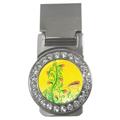 Whimsical Tulips Money Clip (CZ) by StuffOrSomething