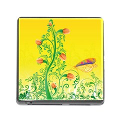 Whimsical Tulips Memory Card Reader With Storage (square) by StuffOrSomething