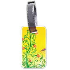 Whimsical Tulips Luggage Tag (two Sides) by StuffOrSomething