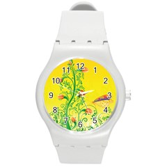 Whimsical Tulips Plastic Sport Watch (medium) by StuffOrSomething