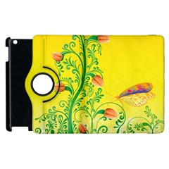 Whimsical Tulips Apple Ipad 3/4 Flip 360 Case