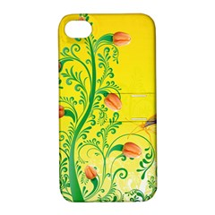 Whimsical Tulips Apple Iphone 4/4s Hardshell Case With Stand by StuffOrSomething