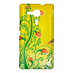 Whimsical Tulips Sony Xperia SP M35H Hardshell Case by StuffOrSomething