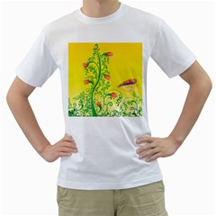 Whimsical Tulips Men s T Shirt (white)  by StuffOrSomething