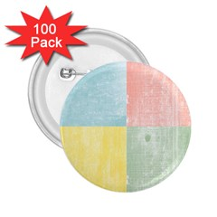 Pastel Textured Squares 2 25  Button (100 Pack) by StuffOrSomething