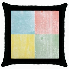 Pastel Textured Squares Black Throw Pillow Case by StuffOrSomething