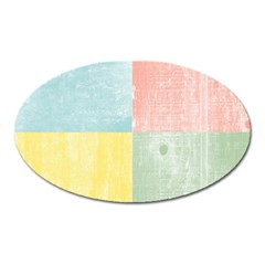Pastel Textured Squares Magnet (oval) by StuffOrSomething